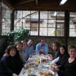 από το γεύμα στο Μπουραζάνι , στην ταβέρνα της Πανωραίας