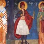 οι  Άγιοι Γεώργιος , Σπυρίδων  και Αντώνιος