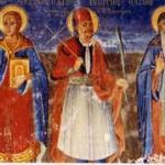 οι  Άγιοι Γεώργιος , Τρύφων  και Αντώνιος